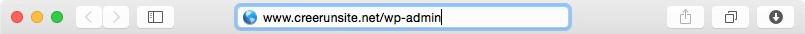 Adresse administration WordPress